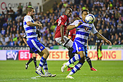 Fulham striker Sone Aluko (24) in action during the EFL Sky Bet Championship play off second leg match between Reading and Fulham at the Madejski Stadium, Reading, England on 16 May 2017. Photo by Jon Bromley.
