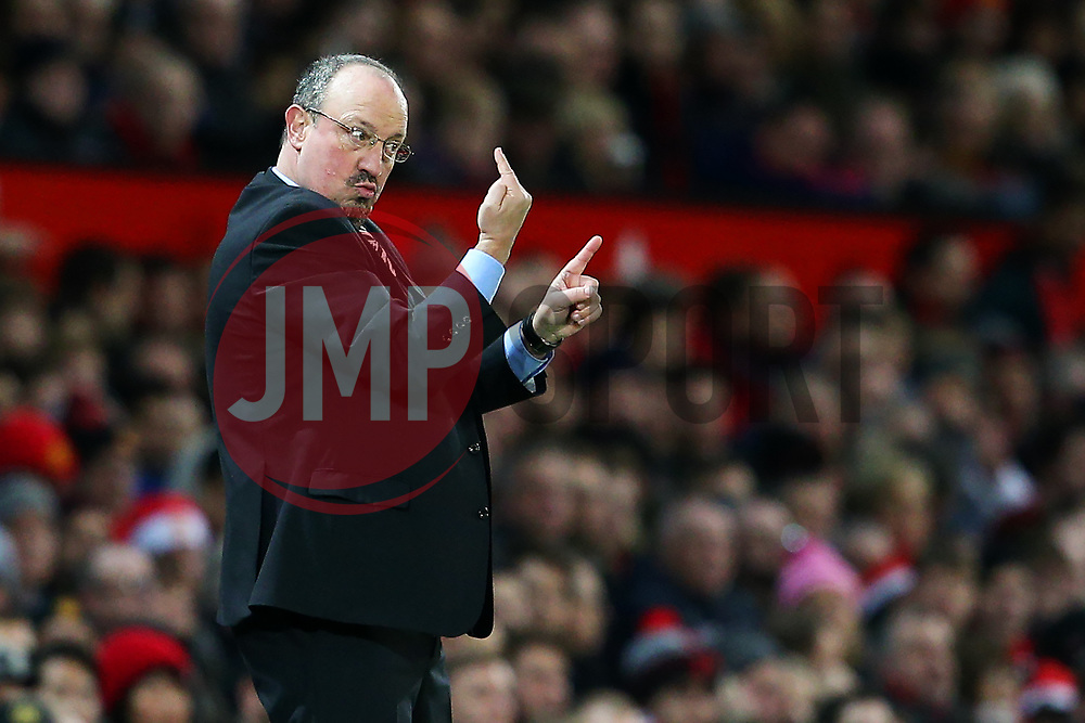 Newcastle United manager Rafa Benitez gestures - Mandatory by-line: Matt McNulty/JMP - 18/11/2017 - FOOTBALL - Old Trafford - Manchester, England - Manchester United v Newcastle United - Premier League