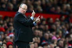 Newcastle United manager Rafa Benitez gestures - Mandatory by-line: Matt McNulty/JMP - 18/11/2017 - FOOTBALL - Old Trafford - Manchester, England - Manchester United v Newcastle United - Premier League