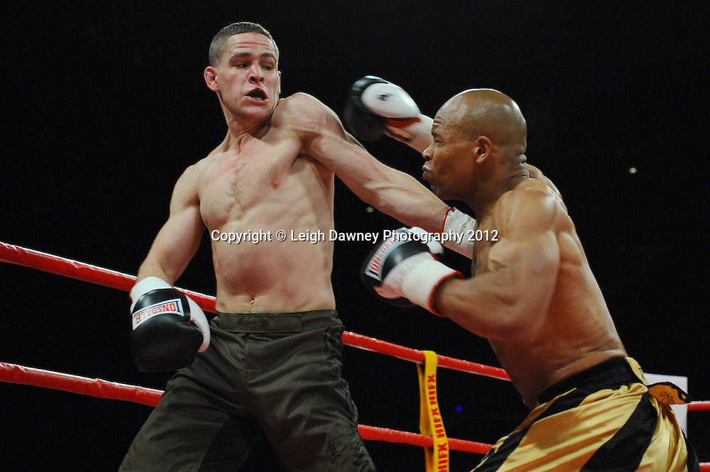 Wayne Adeniyi defeats Tony Shields in a Light Heavyweight contest at the Echo Arena, Liverpool on 13th October 2012. Frank Maloney Promotions © Leigh Dawney Photography 2012.