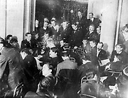 Titanic disaster, 12 April 1912: USA Senate Investigating Committee questioning survivors at the Waldorf Astoria Hotel, New York, 29 May 1912.