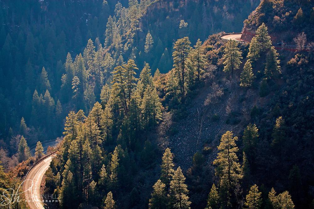 Road through Oak Creek Canyon - AZ