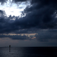 Storm clouds form over the water along the Lemon Bay/Myakka Scenic Trail in Englewood, Florida. (AP Photo/Alex Menendez) Florida scenic highway photos from the State of Florida. Florida scenic images of the Sunshine State.