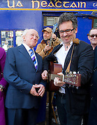 Presidential hopeful Michael D Higgins and wife Sabina joined the Saw Doctors (from left Anthony Thistlethwaite,  Leo Moran and Kevin Duffy and Davy Carton) in Ti Neacthain's Bar in Galway for a session which included their song Michael D Rockin' in the Dail. Photo:Andrew Downes.