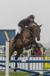 Vrins Nick (BEL) - Cumthago C<br /> 4j springen<br /> Nationale wedstrijd LRV jonge paarden - Lommel 2012<br /> © Dirk Caremans