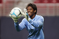 Oct 12 2007:  Briana Scurry of the US WNT.  The US Women's National Team practiced at the Edward Jones Dome in St. Louis for their friendly match against the Women's National Team of Mexico on October 13th.