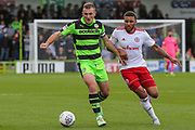 Forest Green Rovers Lee Collins(5) runs forward during the EFL Sky Bet League 2 match between Forest Green Rovers and Accrington Stanley at the New Lawn, Forest Green, United Kingdom on 30 September 2017. Photo by Shane Healey.