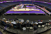 General view (GV) inside the arena  before the The Superstars of Gymnastics event at the O2 Arena, London, United Kingdom on 23 March 2019.