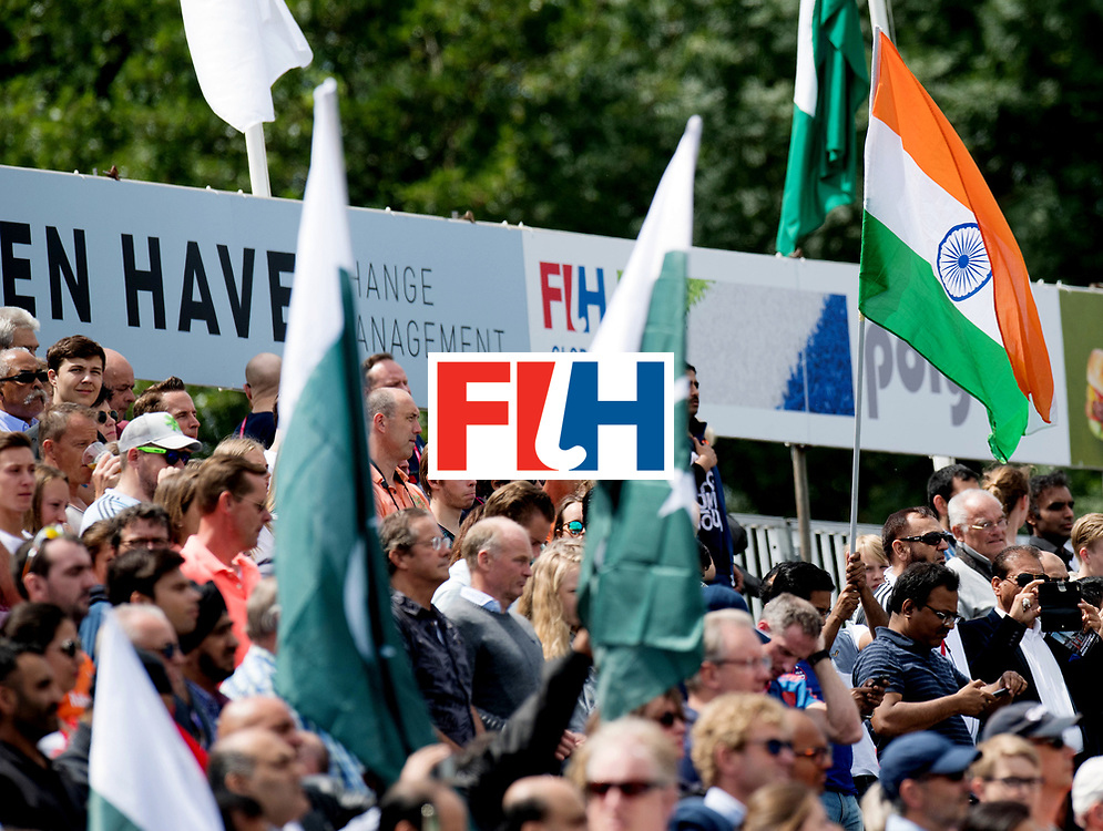 BREDA - Rabobank Hockey Champions Trophy<br /> India - Pakistan<br /> Photo: Indian and pakistani flags.<br /> COPYRIGHT WORLDSPORTPICS FRANK UIJLENBROEK