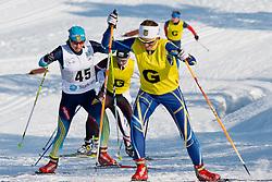 SHYSHKOVA Oksana Guide: NESTERENKO L, UKR, Long Distance Cross Country, 2015 IPC Nordic and Biathlon World Cup Finals, Surnadal, Norway