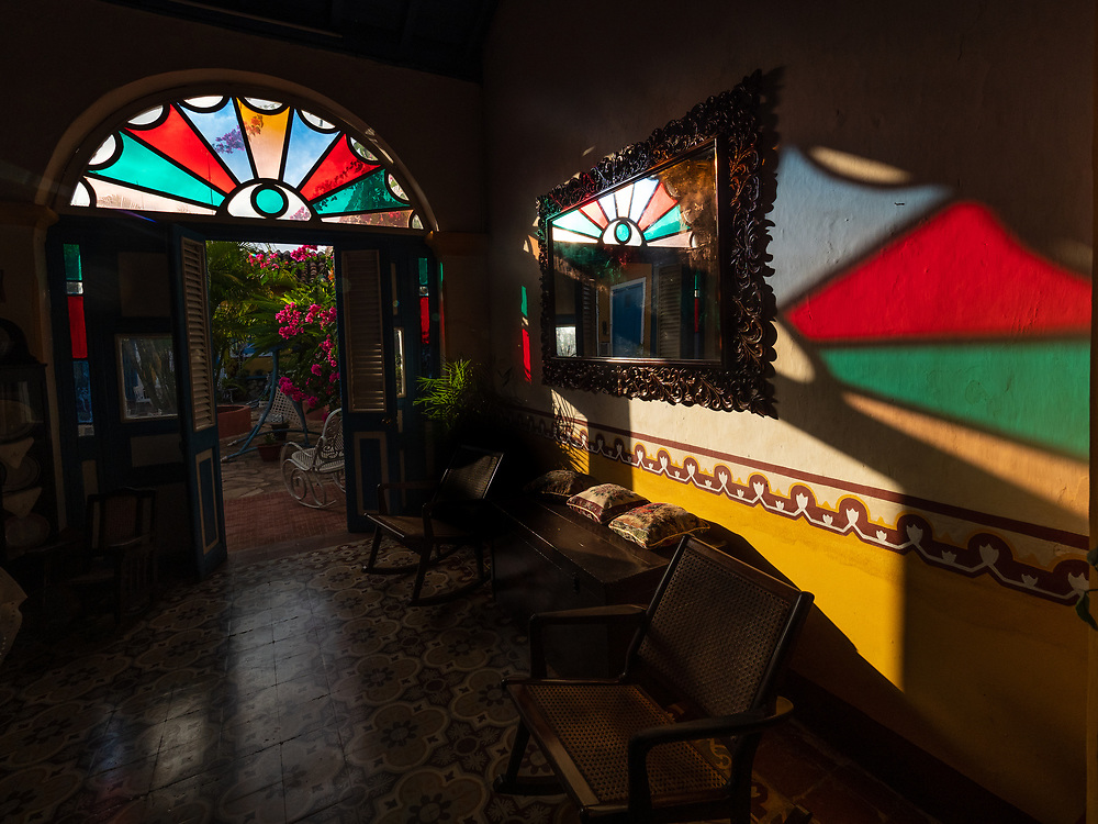 "We love staying in ""Casa Particulares,"" lovely B&Bs in the homes of enterprising and welcoming Cubans.  Our casa in Remedios is aptly named ""Las Vitrales"" which refers to the semicircle of stained glass above the doors in colonial homes."