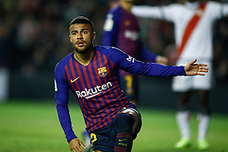November 3, 2018 - Madrid, MADRID, SPAIN - Rafinha of FC Barcelona during the Spanish Championship, La Liga, football match between Rayo Vallecano and FC Barcelona on November 03th, 2018 at Estadio de Vallecas in Madrid, Spain. (Credit Image: © AFP7 via ZUMA Wire)