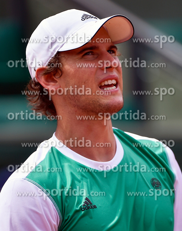 31.05.2017, Roland Garros, Paris, FRA, ATP Tour, French Open, im Bild Dominic Thiem (AUT) // Dominic Thiem (AUT) during the French Open Tournament of the ATP Tour at the Roland Garros in Paris, France on 2017/05/31. EXPA Pictures © 2017, PhotoCredit: EXPA/ Vianney Thibaut