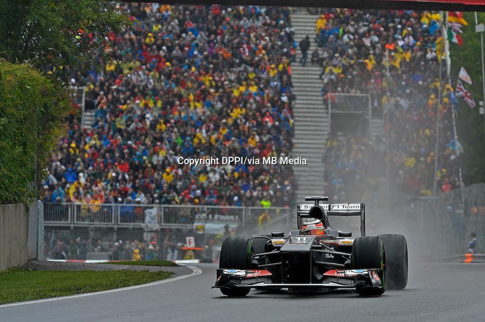 MOTORSPORT - F1 2013 - GRAND PRIX OF CANADA - MONTREAL (CAN) - 07 TO 09/06/2013 - PHOTO ERIC VARGIOLU / DPPI HULKENBERG NICO (GBR) - SAUBER F1 C32 - ACTION