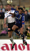 Bærum 21042003 Eliteserien i fotball Stabæk - Odd. Martin Andresen, Stabæk i duell med Jan Frode Nordnes, Odd.<br /> <br /> Foto: Andreas Fadum, Digitalsport
