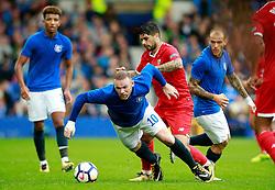 Wayne Rooney of Everton is fouled by Ever Banega of Sevilla - Mandatory by-line: Matt McNulty/JMP - 06/08/2017 - FOOTBALL - Goodison Park - Liverpool, England - Everton v Sevilla - Pre-season friendly