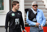 Brendon McCullum and Blacks Caps selector Glenn Turner before the start of play on day 1.<br />New Zealand v West Indies, First Test Match, National Bank Test Series, University Oval, Dunedin, Thursday 11 December 2008. Photo: Andrew Cornaga/PHOTOSPORT