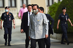 March 17, 2020, Bangkok, Thailand: Thai Prime Minister PRAYUT CHAN-O-CHA wearing a protective mask walks with security before a cabinet meeting at Government House in Bangkok. (Credit Image: © Anusak Laowilas/NurPhoto via ZUMA Press)