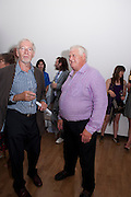 PAUL CLARKE; ARDEN MORGAN, Private view and Summer party to celebrate Haunch of Venison's exhibition. Joanna Vasconcelos; I will Survive and Polly Morgan: Psychopomps. Dover st. arts Club. 20 July 2010. -DO NOT ARCHIVE-© Copyright Photograph by Dafydd Jones. 248 Clapham Rd. London SW9 0PZ. Tel 0207 820 0771. www.dafjones.com.