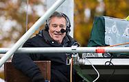 BILTHOVEN - Ziggo commentator Tim Steens  voor de competitiewedstrijd heren,  SCHC-Almere (3-2) . COPYRIGHT KOEN SUYK