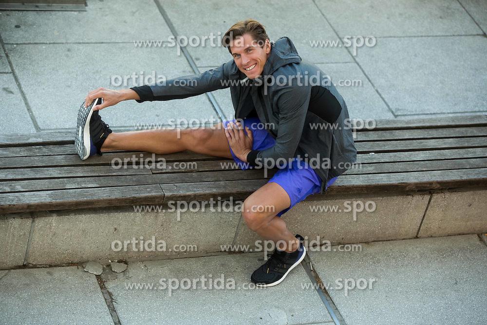 Triathlon athlete David Plese for Adidas, on April 9, 2015 in Ljubljana, Slovenia. Photo by Vid Ponikvar / Sportida