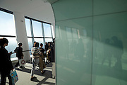 Skytree Tower people on Tembo Galleria Sorakara point floor 450 at 451,2 meter highest point visitors can reach