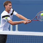 Florian Mayer, Germany, in action against Andy Murray, Great Britain, during the Men's Singles competition at the US Open. Flushing. New York, USA. 1st September 2013. Photo Tim Clayton