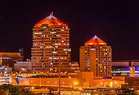 Bank of Albuquerque Tower and the Albuquerque Hyatt Regency, Downtown Albuquerque, New Mexico USA