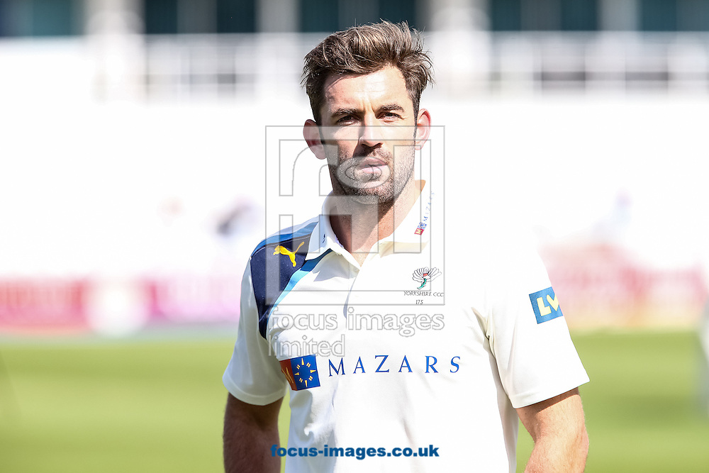 Liam Plunkett of Yorkshire County Cricket Club during the Friendly match at the County Ground, Northampton, Northampton<br /> Picture by Andy Kearns/Focus Images Ltd 0781 864 4264<br /> 08/04/2014