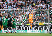 STOCKHOLM, SWEDEN - MAY 16: Johan Sellberg Wiland of Hammarby makes a save during the Allsvenskan match between Hammarby IF and Malmo FF at Tele2 Arena on May 16, 2018 in Stockholm, Sweden. Photo by Nils Petter Nilsson/Ombrello ***BETALBILD***