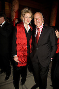 FIONA SHACKLETON AND LORD FOSTER, Opening of Blood on Paper: the art of the Book. V & A. Museum. London. 14 April 2008. Afterwards there was a dinner hosted by Lady Foster.  *** Local Caption *** -DO NOT ARCHIVE-© Copyright Photograph by Dafydd Jones. 248 Clapham Rd. London SW9 0PZ. Tel 0207 820 0771. www.dafjones.com.