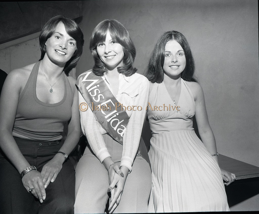 Miss Elida Lovely Hair Competition at Papillion Discotheque, Dublin, Ireland<br /> 30/07/1975