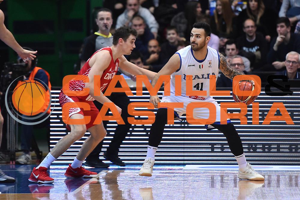 Nazionale Italiana Maschile Senior - 2019 FIBA Basketball World Cup Qualifiers<br /> Croazia Italia Croatia Italy<br /> FIP 2017<br /> Zagabria, 26/11/2017<br /> Foto Ciamillo-Castoria / GiulioCiamillo