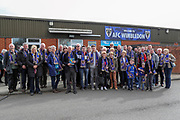 AFC Wimbledon fans during the EFL Sky Bet League 1 match between AFC Wimbledon and Gillingham at the Cherry Red Records Stadium, Kingston, England on 23 March 2019.
