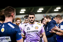 Dave Dennis of Exeter Chiefs - Mandatory by-line: Robbie Stephenson/JMP - 08/12/2019 - RUGBY - AJ Bell Stadium - Manchester, England - Sale Sharks v Exeter Chiefs - Heineken Champions Cup