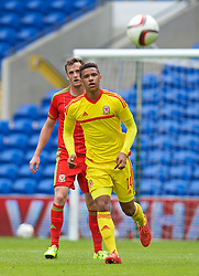 CARDIFF, WALES - Friday, June 5, 2015: Wales' Tyler Roberts during a practice match at the Cardiff City Stadium ahead of the UEFA Euro 2016 Qualifying Round Group B match against Belgium. (Pic by David Rawcliffe/Propaganda)