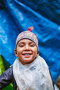 Portrait of a Forest Nomads known as Van Gujjar child in the forests of Chaupal region of Shimla District in Himachal Pradesh, India