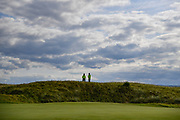 Police officers watch over the 10th green during the Sunday Singles in the Walker Cup at the Royal Liverpool Golf Club, Sunday, Sept 8, 2019, in Hoylake, United Kingdom. (Steve Flynn/Image of Sport)