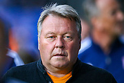 AFC Wimbledon Manager Wally Downes during the EFL Sky Bet League 1 match between Ipswich Town and AFC Wimbledon at Portman Road, Ipswich, England on 20 August 2019.