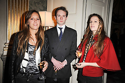 Left to right, VIOLET HESKETH, LORD ELCHO son and heir of the 13th Earl of Wemyss and ANNA HESKETH  at a party to celebrate Penguin's reissue of Nancy Mitford's 'Wigs on The Green' hosted by Tatler at Claridge's, Brook Street, London on 10th March 2010.