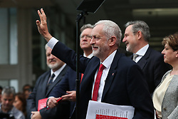© Licensed to London News Pictures. 16/05/2017. Bradford, UK. Labour leader Jeremy Corbyn launches the Labour Party's 2017 general election manifesto at an event at Bradford University in West Yorkshire. Photo credit : Ian Hinchliffe/LNP