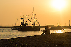 Mersey Island, Essex, August 25th 2016.  Sunset seen from west Mersea, an island on Essex's coast. &copy;Paul Davey<br /> FOR LICENCING CONTACT: Paul Davey +44 (0) 7966 016 296 paul@pauldaveycreative.co.uk