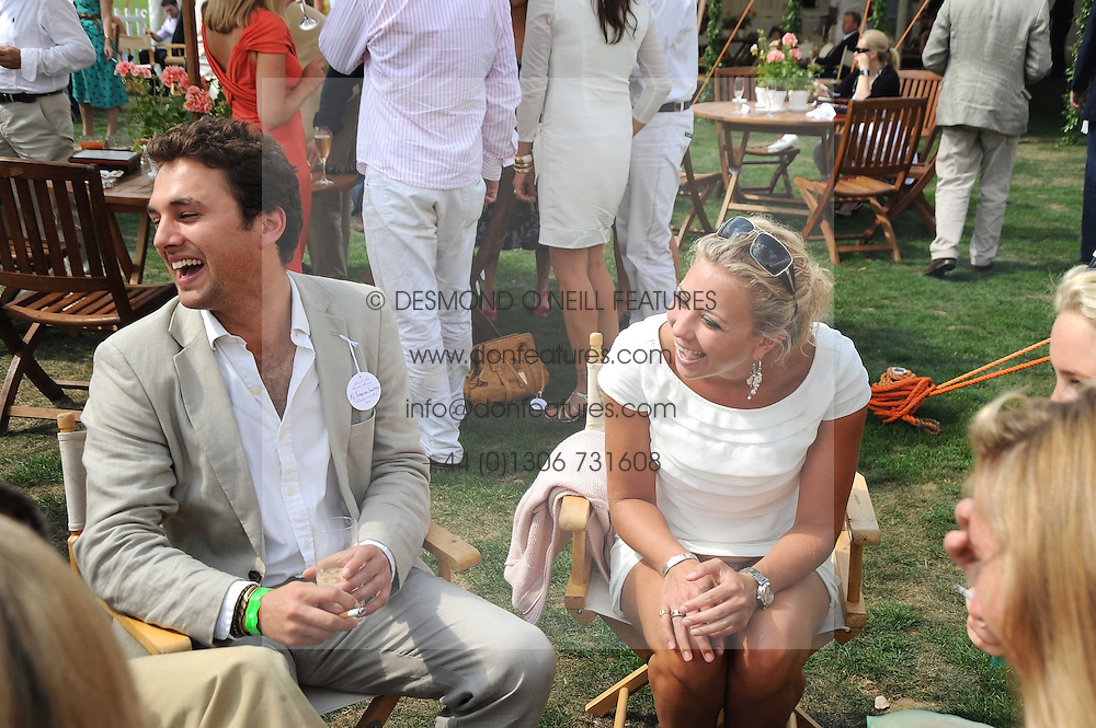 THOMAS VAN STRAUBENZEE and HOLLY BRANSON  at the Cartier International Polo at Guards Polo Club, Windsor Great Park on 27th July 2008.<br /> <br /> NON EXCLUSIVE - WORLD RIGHTS
