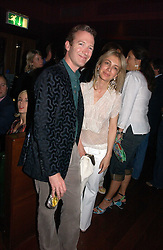 ASHLEY HICKS and SAHAR HASHEMI at a party hosted by Allegra Hicks and Melissa Del Bono to celebrate the opening of Volstead, Swallow Street, London W1 on 4th May 2006.<br /><br />NON EXCLUSIVE - WORLD RIGHTS