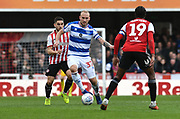 Queens Park Rangers Toni Leistner during the EFL Sky Bet Championship match between Brentford and Queens Park Rangers at Griffin Park, London, England on 2 March 2019.