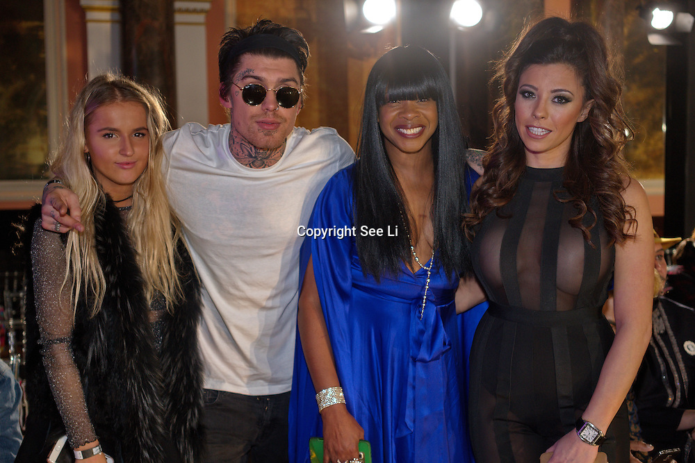 London,England,UK. 4th March 2017: Francesca Suter, Marco White Jr,Sandi Bogle,Pascal Craymer attends the India Pakistan London Fashion Show at Gilson Hall. by See Li