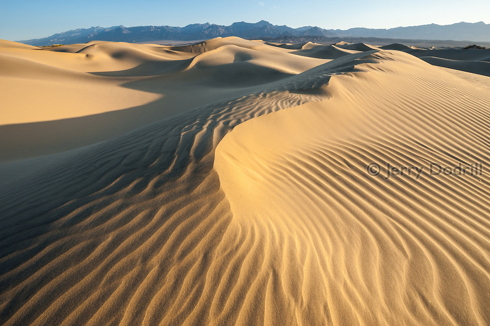 Mesquite Flat Sand Dunes at Stovepipe Wells, Death Valley National Park, California