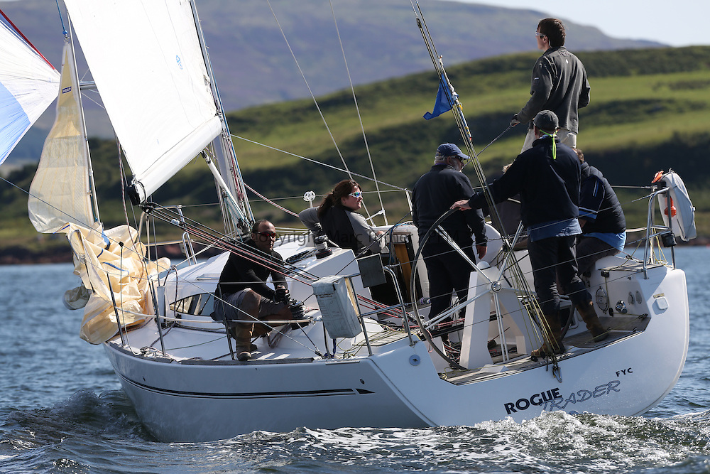 Peelport Clydeport, Largs Regatta Week 2014 Largs Sailing Club based at  Largs Yacht Haven.<br /> 3401C, Rogue Trader, James Cumming, FYC, Elan 340