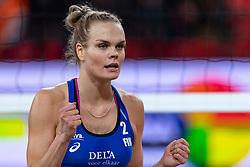 06-01-2019 NED: Dela Beach Open, Den Haag<br /> Finland win the bronze medal / Taru Lahti-Liukkonen #2 FIN