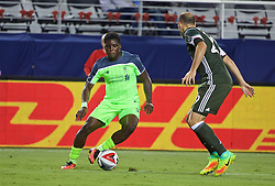 SANTA CLARA, USA - Saturday, July 30, 2016: Liverpool's Sheyi Ojo in action against AC Milan during the International Champions Cup 2016 game on day ten of the club's USA Pre-season Tour at the Levi's Stadium. (Pic by David Rawcliffe/Propaganda)